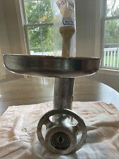 12 Meat Grinder Attachment With Auger Blade Genuine Hobart Assembly Hub