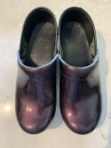 Dansko Patent Leather Clogs Size 39