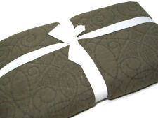 Pottery Barn Brown Washed Cotton Full Queen Quilt New