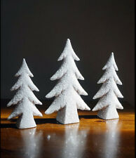 Ceramic Bisque Ready to Paint Three Thin Christmas Tree's