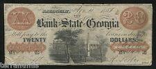 g734 USA 20 dollars 1854 Bank Of The State Of Georgia, Savannah