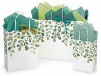 WATERCOLOR GREENERY Design Party Gift Paper Bag ONLY Choose Size & Pack Amount