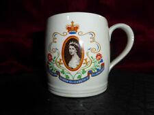 Vintage Queen Elizabeth II Coronation MUG (WACOL) 2nd June 1953 Unusual print GC