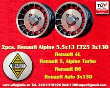 2 Cerchi Lega Renault R4 R5 Turbo Alpine 5.5x13 Wheels Felgen Llantas Jantes TUV