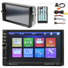 """Universal 7"""" 2DIN Single-Touch Car Dash Stereo Radio Player Kit w/ Rear Camera"""