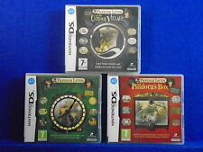 ds PROFESSOR LAYTON x3 Games Curious Village + Lost Future + Pandora's Box PAL