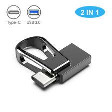 USB 3.0 64GB  Waterproof  Mini  2 In 1 Dual OTG Type C Flash Drive For Phone PC
