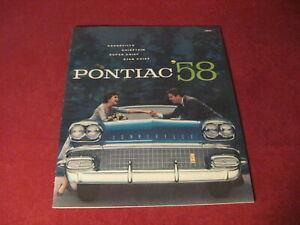 1958 Pontiac Large Prestige Sales Brochure Original Old Booklet Book Catalog