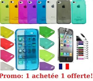 Case Cover IN Silicone Gel For IPHONE 4 4S 5 5 S 6 6 Plus +Film+Stylus