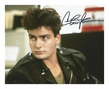 CHARLIE SHEEN AUTOGRAPHED SIGNED A4 PP POSTER PHOTO