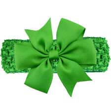 Baby Girl Elastic Knitted Headbands Infant Toddler Knotted Hairbands Bows,Green