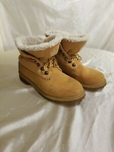 TIMBERLAND ROLL-TOP BOOTS Faux Fur size US 6.5 , EU 39.5