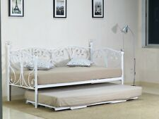 2ft6, 3ft Day bed and Trundle with Crystal finials in Black or White