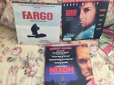 Laserdisc Lot of 9 (DeerHunter,Das Boot,Tombstone,Spartacus,Willis,Nixon,Fargo