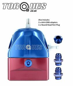 Torques AN-6 6AN EFI Adjustable Fuel Pressure Regulator 30-70 PSI With Adapters