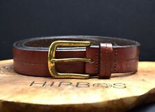John Lewis Classic Mens Leather Jeans Belt Brown Size Medium