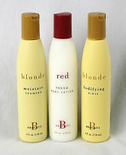 Brocato Red Rossa Body Lotion Blonde Moisture Shampoo Bodifying Rinse 3 pack