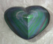 258g Natural Pretty Rainbow Obsidian Quartz Crystal Heart Healing