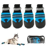 4Pcs Warm Shoes for Pet Dog Anti-slip Rain Snow Boots Puppy Dog Socks Booties US