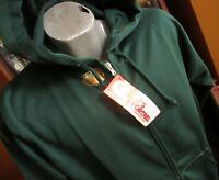 MEDIUM True Vtg 80's CLASSIC GREEN WAFFLE LINER ZIP HOODY Jacket NEW NWT