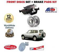 FOR TOYOTA RAV4 RAV 4  2.0 1994-2000  FRONT BRAKE DISCS SET + DISC PADS KIT