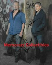 PRISON BREAK Wentworth Miller & Dominic Purcell SIGNED Autograph Color Photo