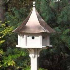 LAZY HILL FARM DESIGNS CAROUSEL HOUSE W/ COPPER ROOF DECORATIVE BIRD HOUSE