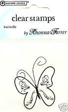 BUTTERFLY Clear Unmounted Rubber Stamp NEW