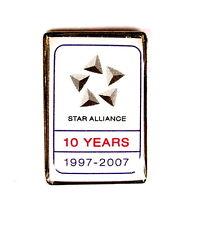 "AIRLINE Pin / Pins - LUFTHANSA STAR ALLIANCE ""10 YEARS"" [1130]"