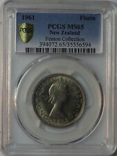 1961 New Zealand Florin PCGS MS65 Fenton Collection