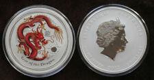 2 Dollars SILBER Australian Lunar Drache 2012 Farbe 2 Oz