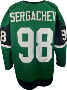 Mikhail Sergachev autographed signed jersey NHL Tampa Bay Lightning PSA COA