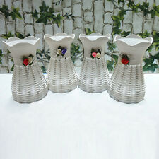 1X Rattan Flower Vase antique decorative vase practical Garden Home Decor AU