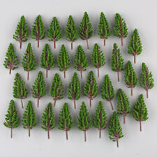 50 x Model Pine Trees Model Train Park Trees for HO or OO Scale Scenery 78mm