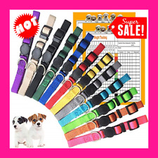12 Breakaway Puppy Litter Collars Soft Whelping Adjustable Id Newborn Dog Safety