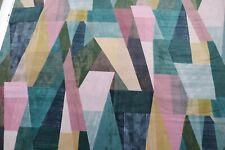 """HARLEQUIN  CURTAIN FABRIC DESIGN """"Pythagorum"""" 1.2 METRES INK /ROSE QUARTZ VELVET"""