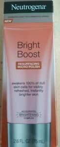 Neutrogena Bright Boost Resurfacing Micro Polish Cleanser Scrub Exfoliator 2.6oz