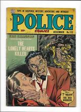 """Police Comics #122 [1952 Gd-Vg] Ken Shannon """"The Lonely Hearts Killer"""""""