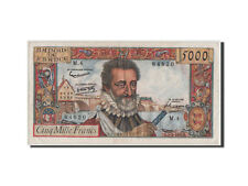 Billets, France, 5000 Francs Henri IV 1957, 7.2.1957, Pick 135a #44489