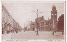 Warwickshire, Town Hall & Parade, Leamington Spa PPC 1918 War Bonds Slogan PMK