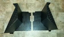 2009-2014 FULL SIZE POLARIS RANGER 700 AND 800 BLACK  DIAMOND PLATE MUD GUARDS