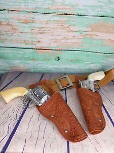 Vintage Toy Cap Guns W/ Holster Belt Tootsie Toy Pony Boy Western Cowboy
