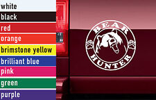 Bear Hunter Hunting Vinyl Sticker Decal Car-Truck Laptop-Netbook 1462