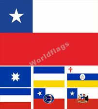Chile Flag 3X5FT Historical Ancient mapuche President Communist Party Army