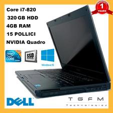 Ordinateur Portable Dell Precision M4500 Intel i7 Nvidia Image 320GB 4GB RAM 15