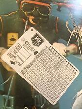 TAG-HEUER Diver Table Tabella Decompressione Vintage Wach 90's