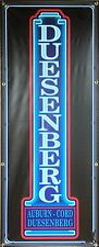 DUESENBERG CAR SALES AUTO DEALER NEON STYLE PRINTED BANNER SIGN ART 2' X 5'