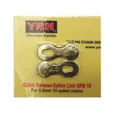 2 Sets New Quality YABAN Missing Link 10-Speed Re-usable Pin Length:5.9mm Silve