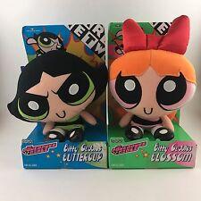 NEW Bundle 2 Powerpuff Girls Bitty Cuddles Blossom Buttercup Plush 1999 Cartoon