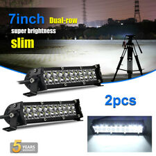 7 inch 500W LED Work Light Bar Flood Spot Beam Offroad 4WD SUV Driving Fog Light